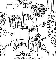 modello, shopping, tema, regali