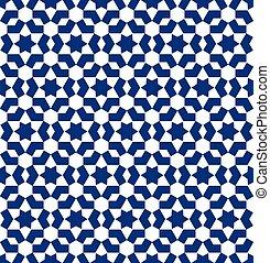 modello, stile, marocchino, mosaico