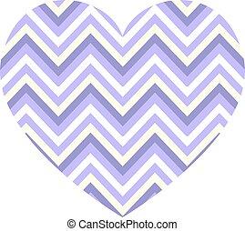 modello, strisce orizzontali, vettore, cuore, zigzag