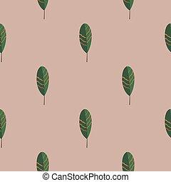 modello, strisce, seamless, foglie