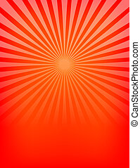 modello, sunburst, rosso