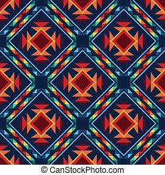 modello, tribale, seamless, azteco, fondo., geometrico, ...