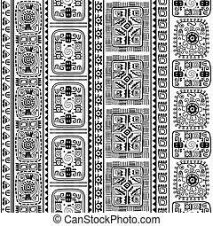 modello, tribale, seamless, etnico