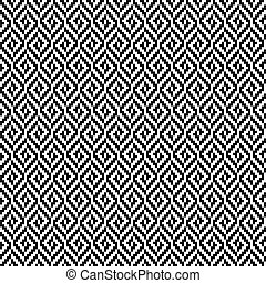 modello, tweed, nero, rombo, bianco, seamless