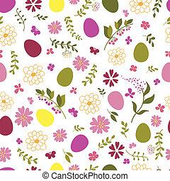 modello, uova, flowers., seamless