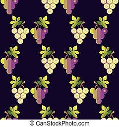 modello, uva, seamless