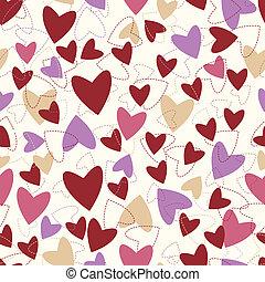 modello, valentines, day., cuori, seamless