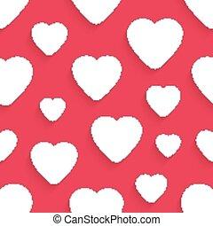 modello, valentines, seamless, vettore, cuori, giorno