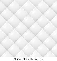 modello, vector., sfondo bianco, quilted, seamless, neutrale, morbido