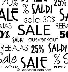 modello, vendita, seamless
