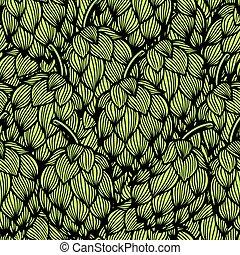 modello, verde, luppoli, seamless