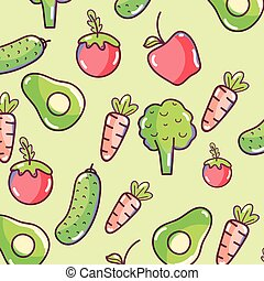 modello, verdura, fondo