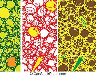 modello, verdura, frutte