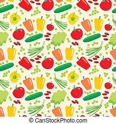 modello, verdura, seamless