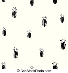 modello, vettore, cactus, seamless