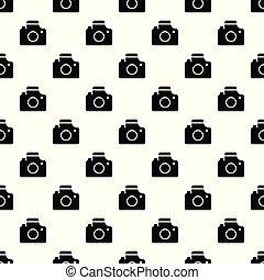 modello, vettore, macchina fotografica, seamless