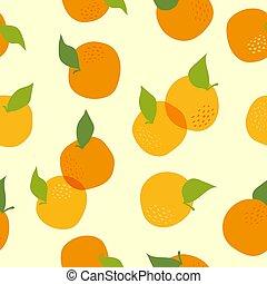 modello, vettore, seamless, orange.