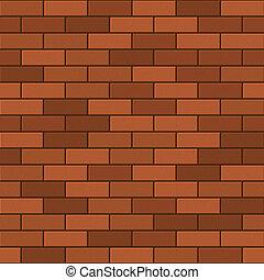 modello, vettore, seamless, rosso, brick.