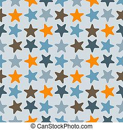 modello, vettore, starfishes, seamless