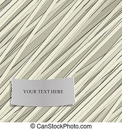 modello, vettore, text., striscia, etichetta