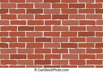 modello, wall., mattone, appartamento, disegno, testo, ombre, rosso, seamless, spazio illustrazione, vettore