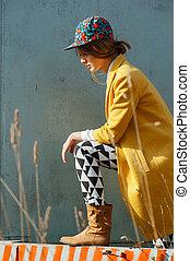 modelo, al aire libre, retrato