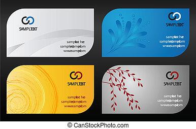 modelo, cartões, negócio