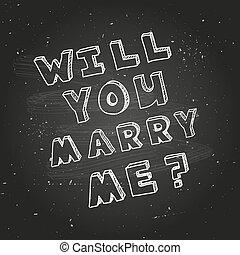 modelo, cartaz, desenho, proposta, casamento