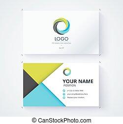 modelo, comercial, cartão negócio, design.