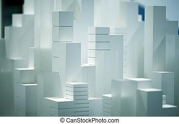 modelo de balanza, edificio