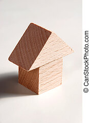 modelo de madera, de, casa