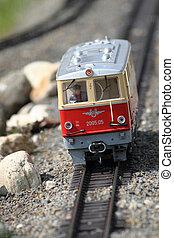 modelo, de, trem