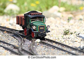 modelo, de, tren