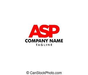 modelo, desenho, logotipo, inicial, asp, letra