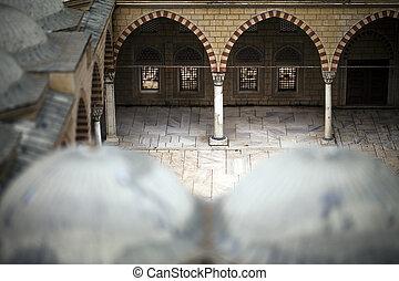 modelo, edificio, histórico, antiguo