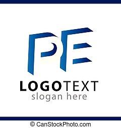 modelo, espaço, inicial, negativo, vetorial, letra, pe,...