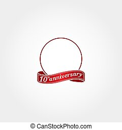 modelo, etiquetado, year., 10th, número, décimo, aniversário, círculo, aquilo, anniversary., 10, logotipo