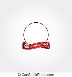 modelo, etiquetado, year., número, aniversário, círculo, aquilo, anniversary., centésimo, 100th, logotipo, 100