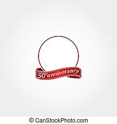 modelo, etiquetado, year., número, aniversário, círculo, aquilo, anniversary., fiftieth, 50th, logotipo, 50