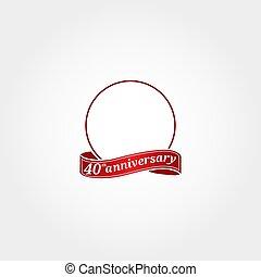 modelo, etiquetado, year., número, fortieth, aniversário, círculo, aquilo, anniversary., 40, 40th, logotipo