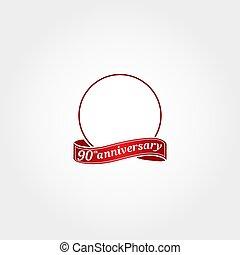 modelo, etiquetado, year., número, ninetieth, 90th, aniversário, círculo, aquilo, anniversary., logotipo, 90