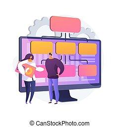 modelo, illustration., vector, empresa / negocio, pp de ...