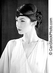 modelo moda, gatsby, estilo, 20s