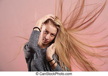 modelo moda, mulher jovem