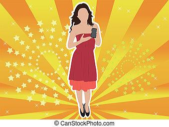 modelo, mulher, promoter