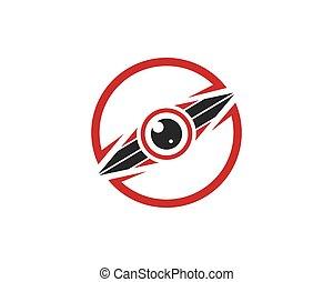 modelo, olho, vetorial, ilustração, logotipo, óptico, ícone