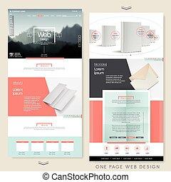 modelo, página, um, site web, simplicidade, desenho