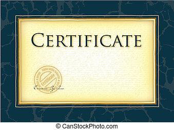 modelo, para, diploma, certificado