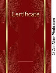 modelo, red/gold, certificado