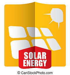 modelo, solar, conceito, energia